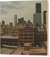 Downtown Los Angeles Panorama Wood Print