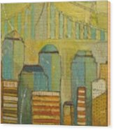 Downtown Manhattan Wood Print