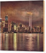 Downtown Manhattan September Eleventh Wood Print by Chris Lord