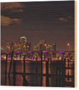 Downtown Miami Wood Print