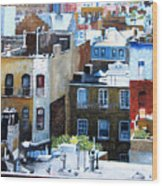 Downtown Nyc Rooftops Wood Print