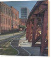 Downtown Paradox Wood Print