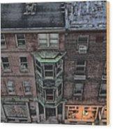 Downtown Philadelphia Building Wood Print