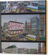 Downtown Portsmouth 1948 Wood Print