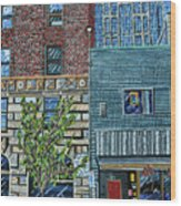 Downtown Raleigh - West Martin Street Wood Print