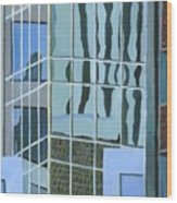 Downtown Reflections Wood Print