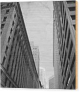 Downtown San Francisco Street View - Black And White 2 Wood Print