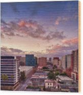 Downtown San Jose From City Heights Wood Print