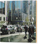 Downtown Seattle Wood Print