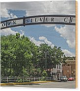 Downtown Silver City Wood Print