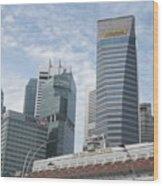 Downtown Singapore Wood Print