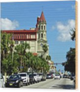 Downtown St Augustine Wood Print