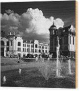Downtown Tomsk Wood Print