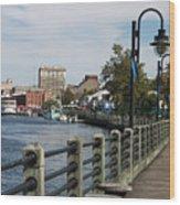 Downtown Wilmington Wood Print