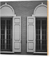 Downtown Windows Roanoke Virginia Wood Print
