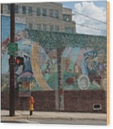 Downtown Winston Salem Series V Wood Print