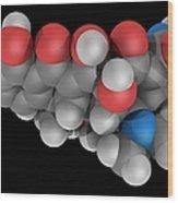 Doxycycline Drug Molecule Wood Print by Laguna Design