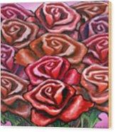 Dozen Roses Wood Print