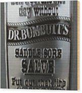 Dr. Bumbutt's Wood Print