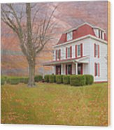 Dr Claude T. Old House Wood Print