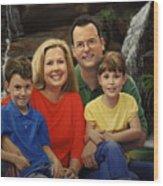 Dr. Devon Ballard And Family Wood Print