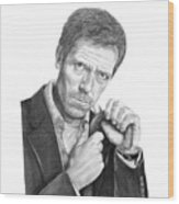 Dr. House  Hugh Laurie Wood Print