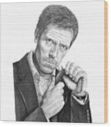 Dr. House  Hugh Laurie Wood Print