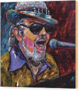 Dr. John Portrait Wood Print