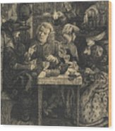 Dr Johnson At The Mitre Wood Print