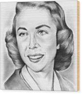 Dr. Joyce Brothers Wood Print