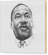 Dr. Martin Luther King Wood Print