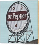 Dr Pepper Landmark Sign Roanoke Virginia Wood Print