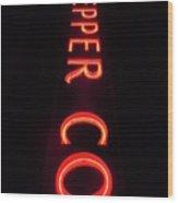 Dr. Pepper Neon Wood Print