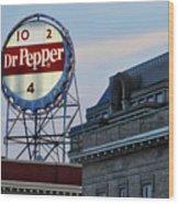 Dr Pepper Sign Wood Print