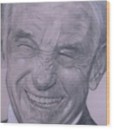 Dr. Ron Paul, Big Warm Smile Wood Print