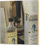 Dr Smileys Mouthwash Wood Print by Fred Lassmann