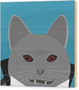 Dracula Cat Wood Print