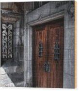 Dracula's Back Door Wood Print