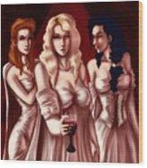 Dracula's Brides Wood Print