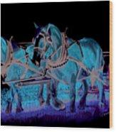 Draft Horses Wood Print