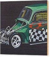 Drag Racing Vw Wood Print