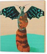 Dragon And Cat Wood Print