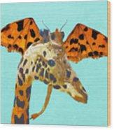 Dragon And Giraffe Wood Print