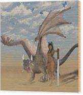 Dragon And Master Wood Print
