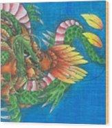 Dragon And Phoenix Wood Print