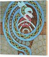 Dragon And The Circles Wood Print