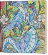 Dragon Apples Wood Print