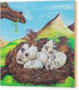 Dragon Babies Wood Print