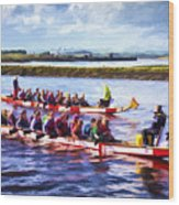 Dragon Boats Wood Print