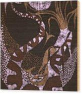 Dragon Breathing Arrows Wood Print